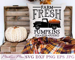 Farm Fresh Pumpkins Vintage Truck Cover